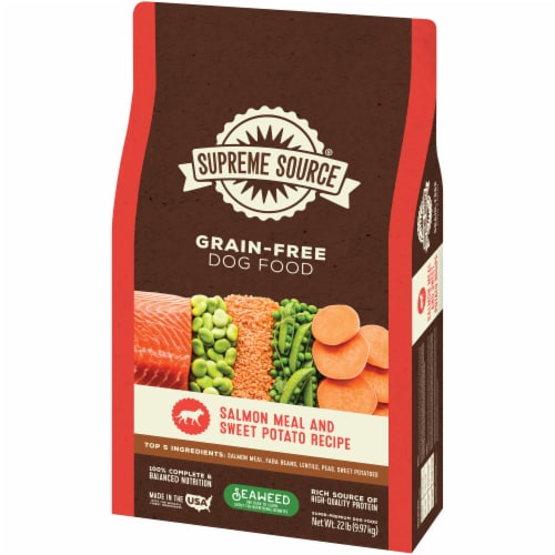 Supreme Source Grain-Free Salmon Meal and Sweet Potato Recipe Dry Dog Food Perspective: right