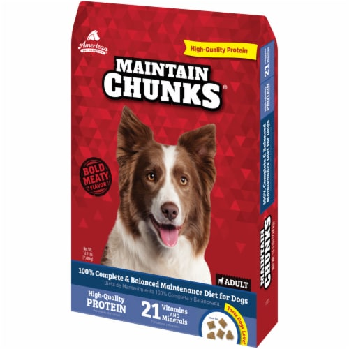 Maintain Chunks High Protein Adult Dry Dog Food Perspective: right