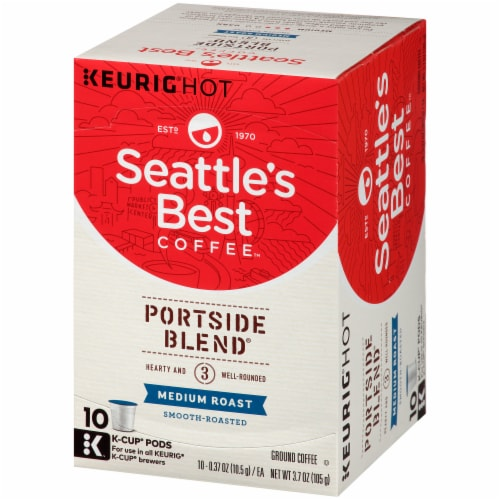 Seattle's Best Portside Blend Medium Roast Coffee K-Cup Pods Perspective: right