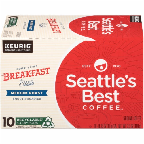 Seattle's Best Coffee Breakfast Blend Medium Roast Coffee K-Cup Pods Perspective: right