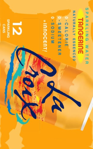 LaCroix Tangerine Sparkling Water Perspective: right