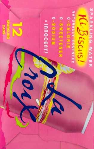 LaCroix Hibiscus Sparkling Water Perspective: right