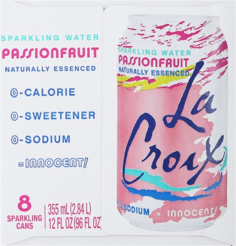 LaCroix Passionfruit Sparkling Water Perspective: right