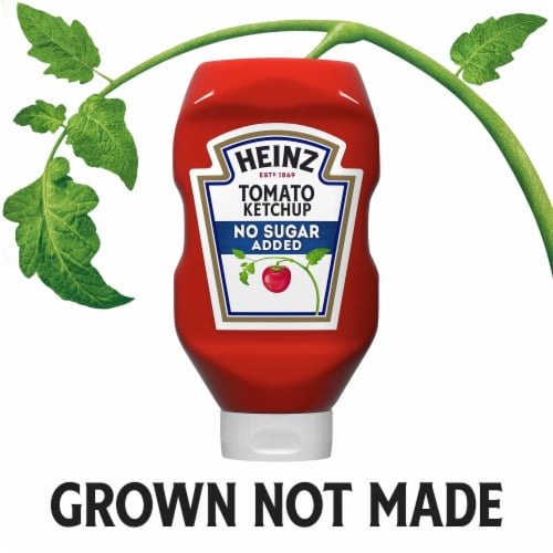 Heinz No Sugar Added Tomato Ketchup Perspective: right
