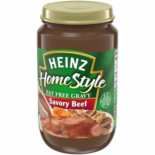 Heinz Fat Free Savory Beef Gravy Perspective: right