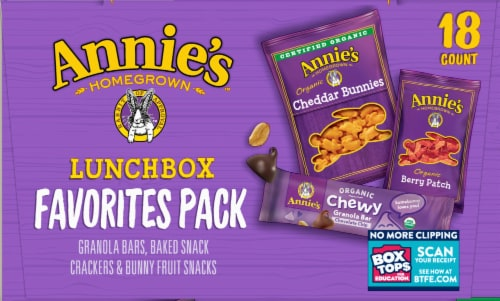 Annie's Organic Lunchbox Favorites Snack Variety Pack Perspective: right