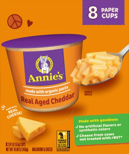 Annie's Real Aged Cheddar Macaroni & Cheese Perspective: right