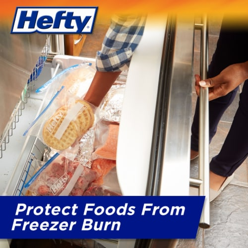 Hefty Quart Freezer Slider Bags Perspective: right