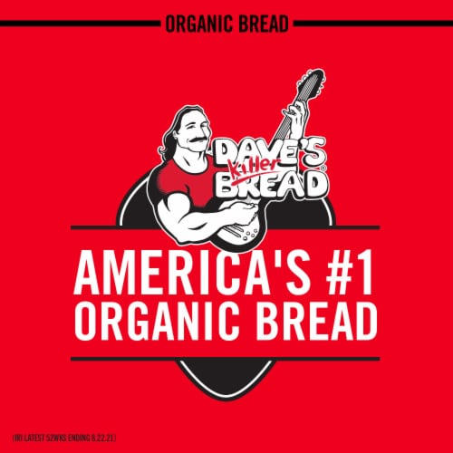 Dave's Killer Bread Organic Thin-Sliced 21 Whole Grains and Seeds Bread Perspective: right