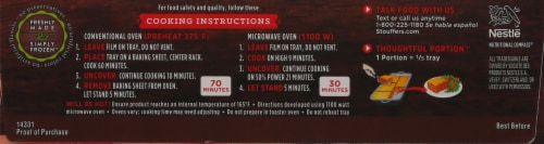 Stouffer's® Family Size Lasagna Italiano Frozen Meal Perspective: right