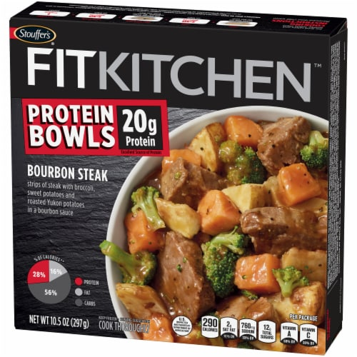 Stouffer's Fit Kitchen Bourbon Steak Bowl Perspective: right