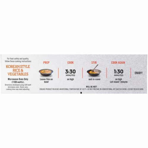 Lean Cuisine Korean Style Rice & Vegetables Bowls Frozen Meal Perspective: right