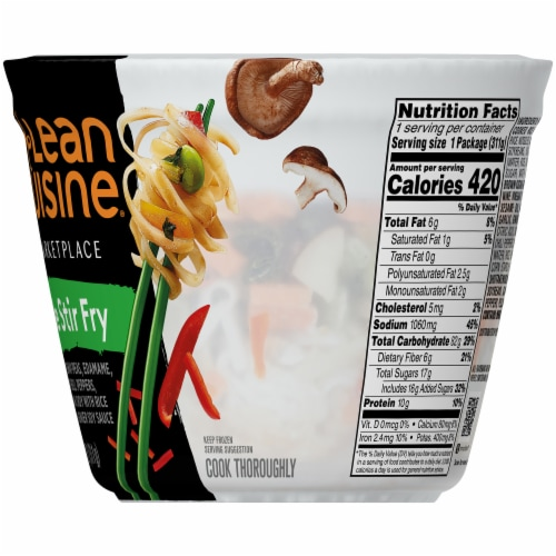 Lean Cuisine Marketplace Vegetable Stir Fry Cup Perspective: right