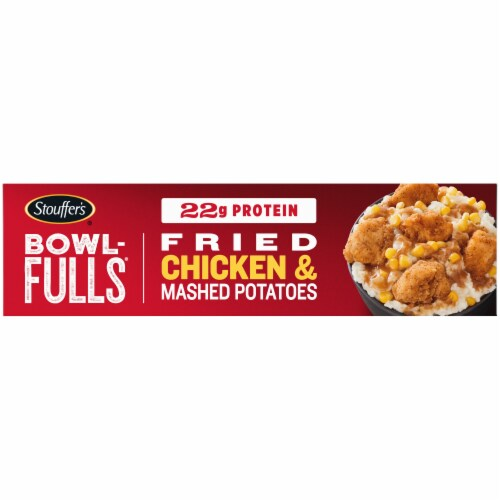 Stouffer's Bowl-Fulls Fried Chicken & Mashed Potatoes Frozen Meal Perspective: right