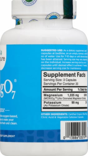 Aerobic Life Mag O7 Dietary Supplement Capsules Perspective: right