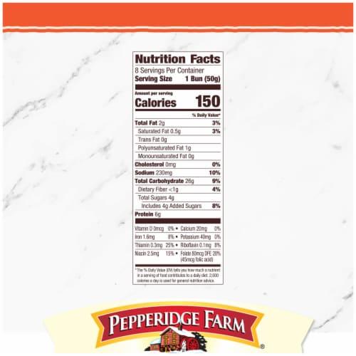 Pepperidge Farm Bakery Classics Top Sliced Sweet Hawaiian Hot Dog Buns Perspective: right
