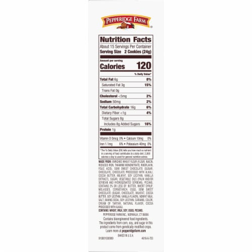 Pepperidge Farm Chocolate Collection Cookies Perspective: right
