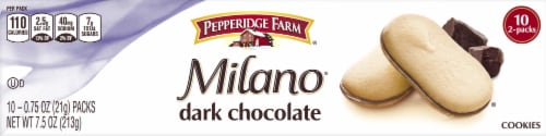 Milano Dark Chocolate Cookies Perspective: right