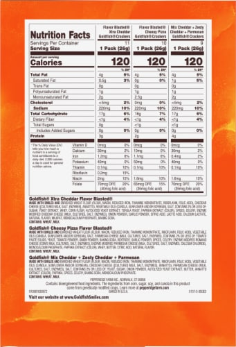Pepperidge Farms Bold Mix Variety Goldfish Baked Snack Crackers Snack Bags Perspective: right