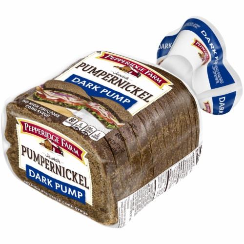Pepperidge Farm Dark Pumpernickel Bread Perspective: right