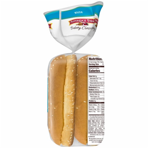 Pepperidge Farm Bakery Classics Soft White Hoagie Rolls with Sesame Seeds Perspective: right