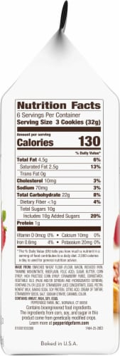Pepperidge Farm Strawberry Thumbprint Cookies Perspective: right