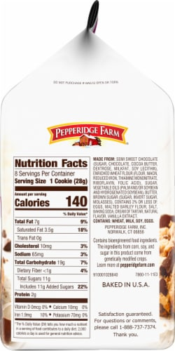 Pepperidge Farm Nantucket Double Dark Chocolate Cookies Perspective: right