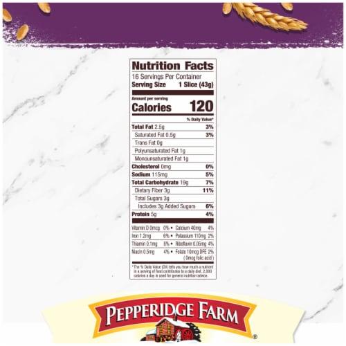 Pepperidge Farm Whole Grain 15 Grain Bread Perspective: right