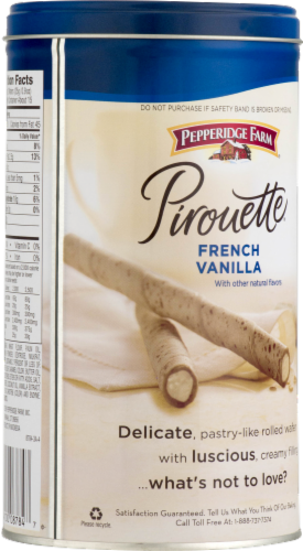 Pepperidge Farm Pirouette French Vanilla Creme Filled Wafers Perspective: right