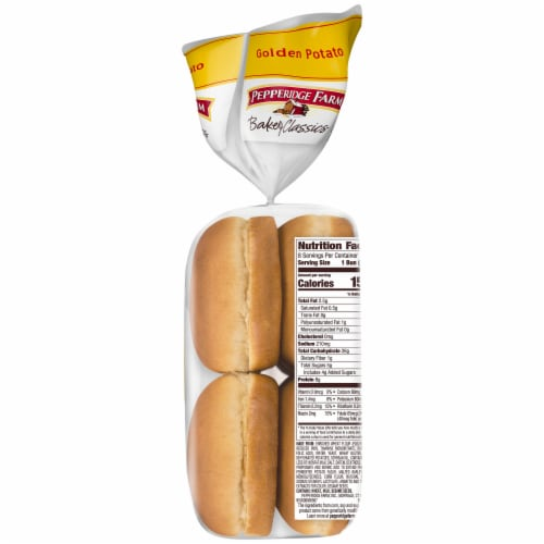 Pepperidge Farm Bakery Classics Golden Potato Hamburger Buns Perspective: right