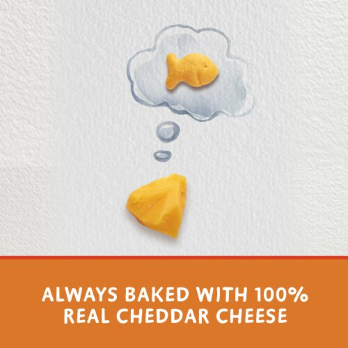 Goldfish Colors Cheddar Baked Snack Crackers Lunch Packs Perspective: right