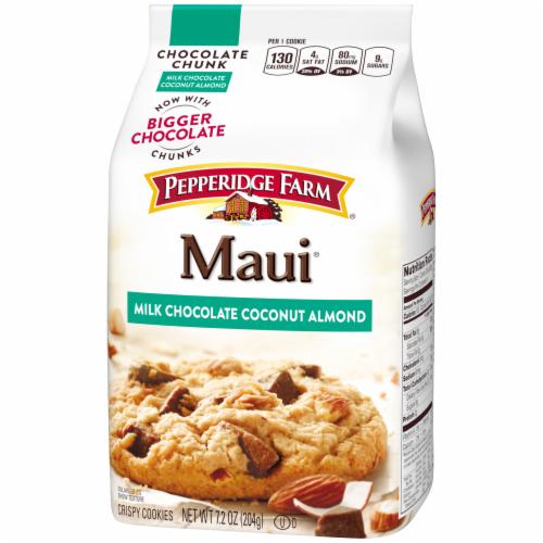 Pepperidge Farm Maui Milk Chocolate Coconut Almond Cookies Perspective: right
