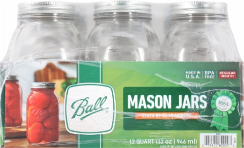 Ball® Regular Mouth Quart Jars - Clear Perspective: right