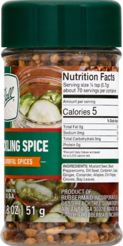 Ball® Mixed Pickling Spice Perspective: right