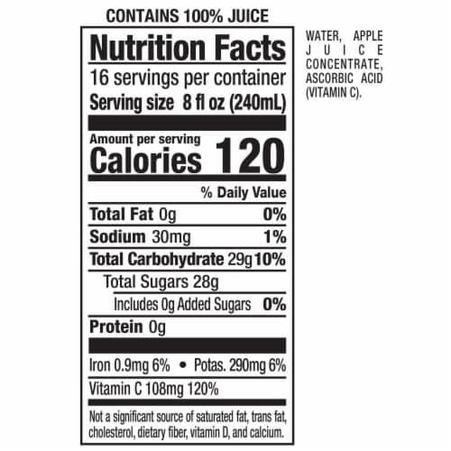 Mott's 100% Original Apple Juice No Sugar Added Perspective: right