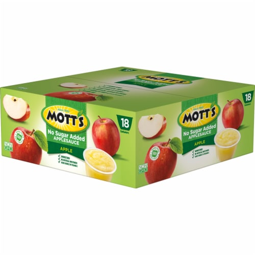 Mott's Unsweetened Applesauce Cups Perspective: right