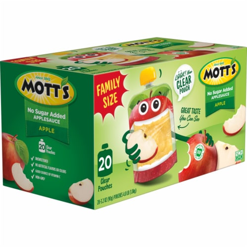 Mott's No Sugar Added Applesauce Pouches Perspective: right
