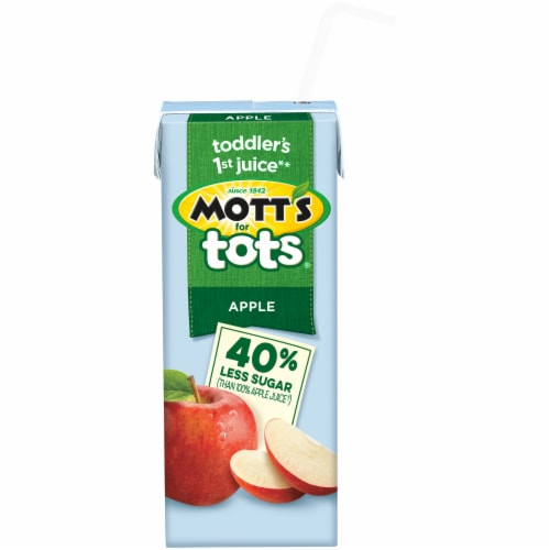 Mott's for Tots Apple Juice Boxes Perspective: right