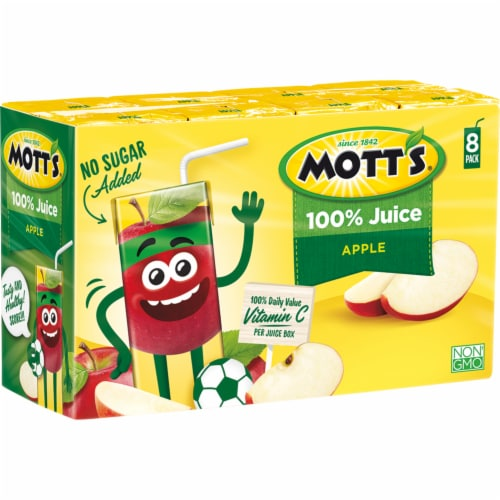Mott's 100% Original Apple Juice Boxes 8 Count Perspective: right