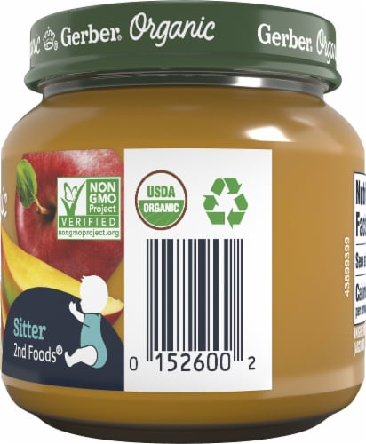 Gerber Organic Mango Apple Banana Stage 2 Baby Food Perspective: right