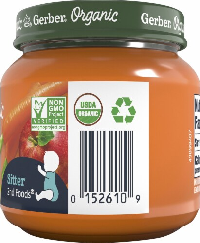Gerber Organic Carrot Apple Pear 2nd Foods Baby Food Perspective: right