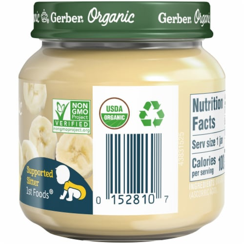 Gerber Organic 1st Foods Banana Baby Food Perspective: right