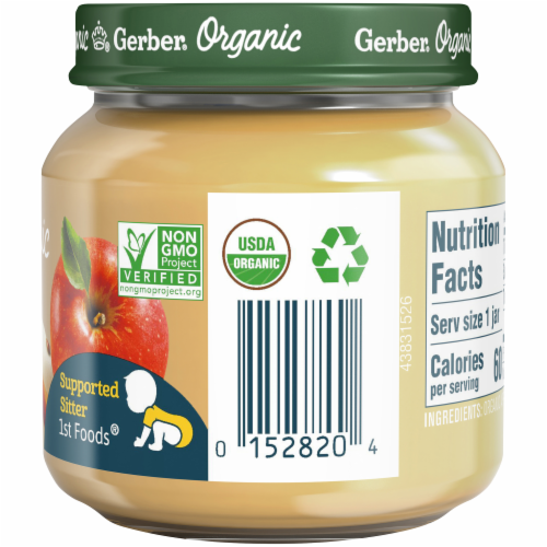 Gerber Organic 1st Foods Apple Baby Food Perspective: right