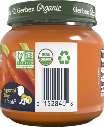 Gerber Organic 1st Foods Carrot Stage 1 Baby Food Perspective: right