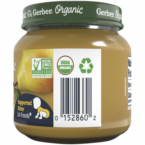 Gerber Organic 1st Foods Pear Stage 1 Baby Food Perspective: right