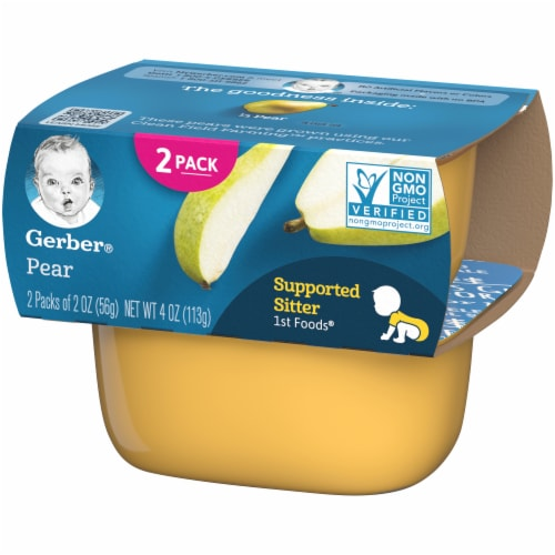 Gerber Pear Stage 1 Baby Food Perspective: right