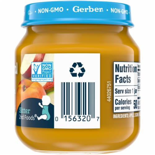 Gerber 2nd Foods Natural Apple Zucchini Peach Baby Food Perspective: right