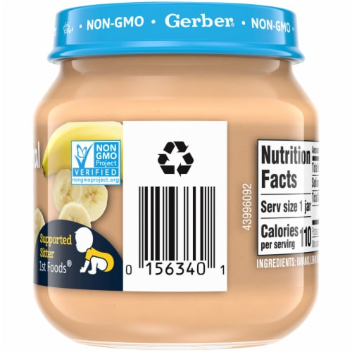 Gerber 2nd Foods Natural Banana Baby Food Perspective: right
