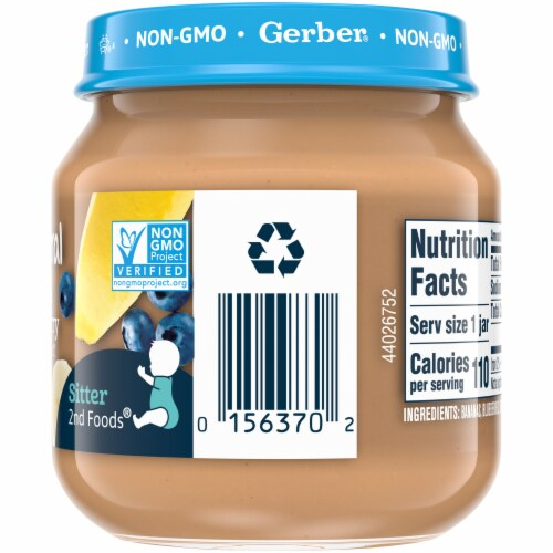 Gerber 2nd Foods Banana Blueberry Stage 2 Baby Food Perspective: right