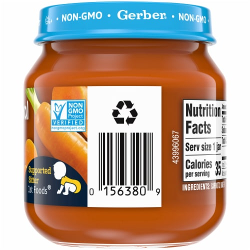 Gerber 2nd Foods Natural Carrot Stage 2 Baby Food Perspective: right